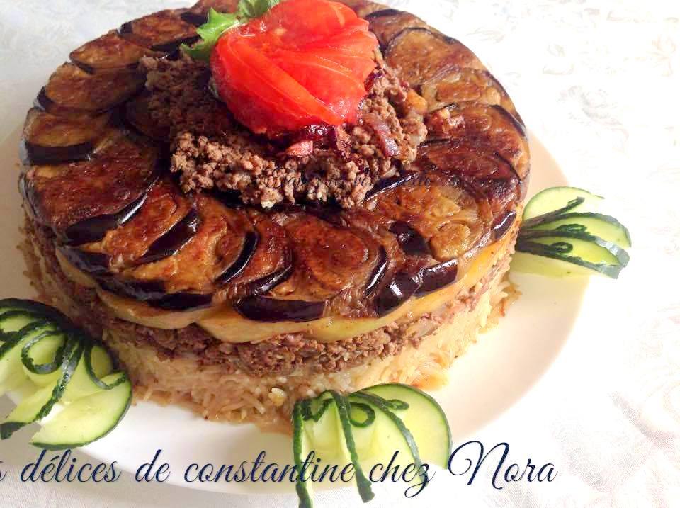 Maklouba riz renvers aux aubergines recettes faciles - Cuisine libanaise aubergine ...