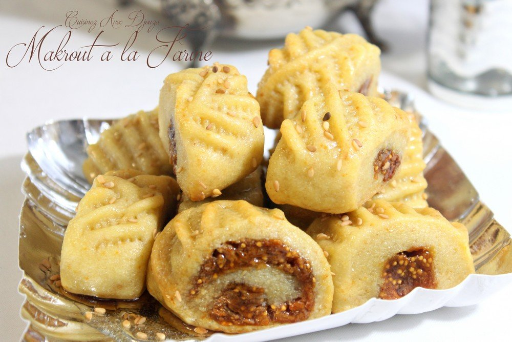 Makrout a la farine et aux figues cuisson au four