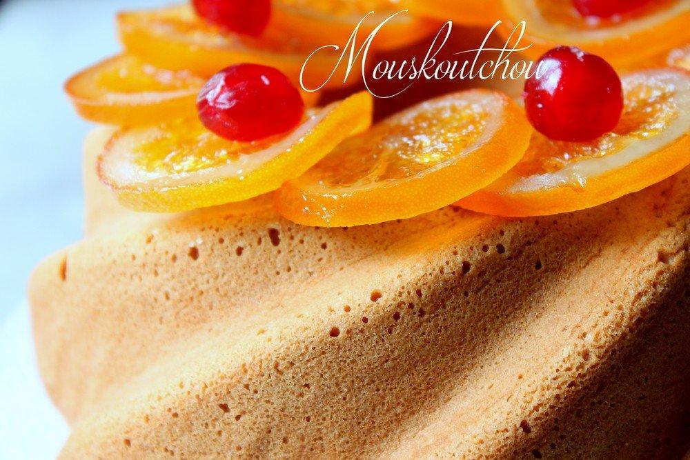 Mouskoutchou cake algérien léger très moelleux qui ressemble au gâteau de Savoie