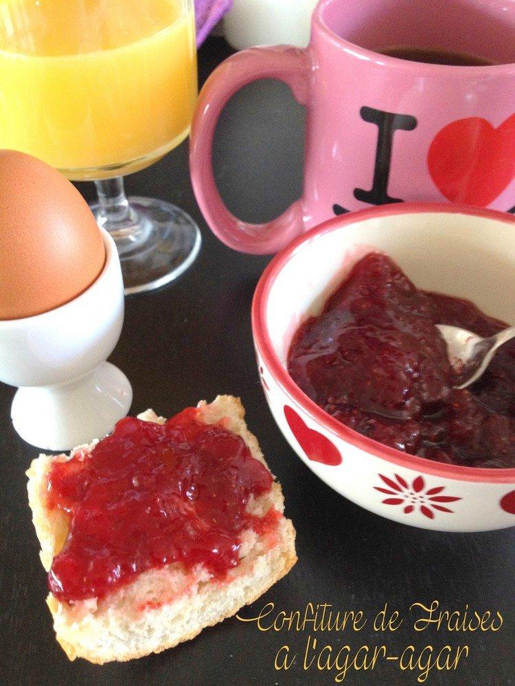 Confiture de fraises a l'agar-agar, maison et allégée