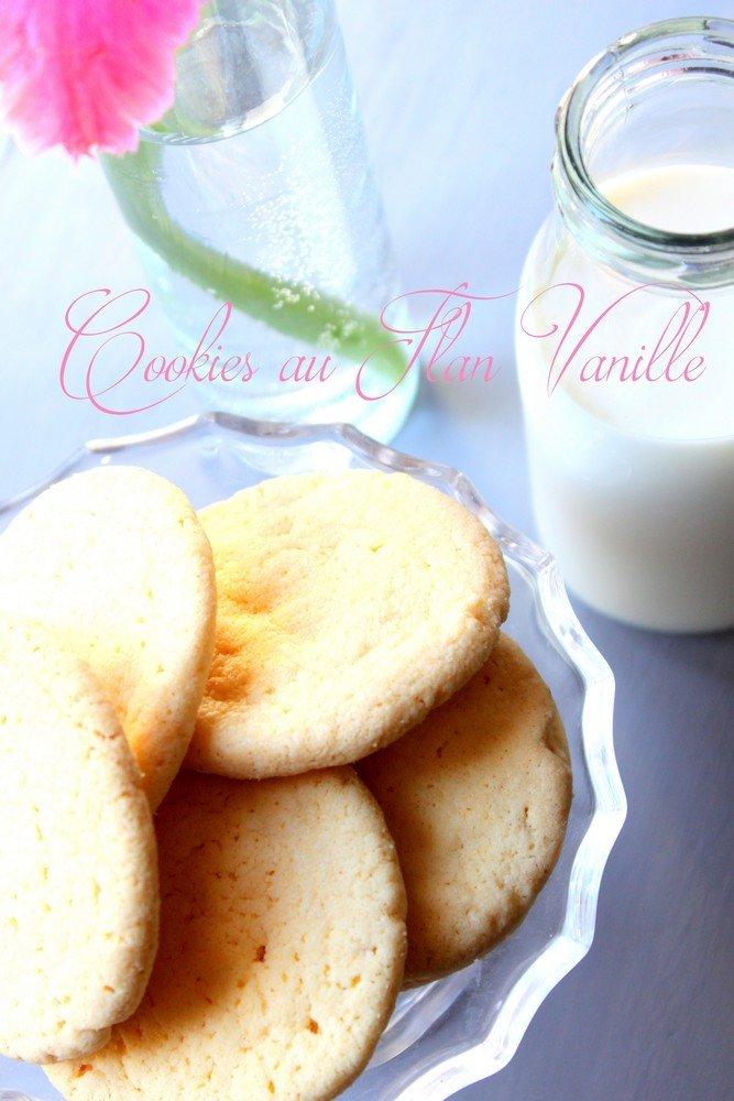 Cookies sans gluten au flan vanille super fondant