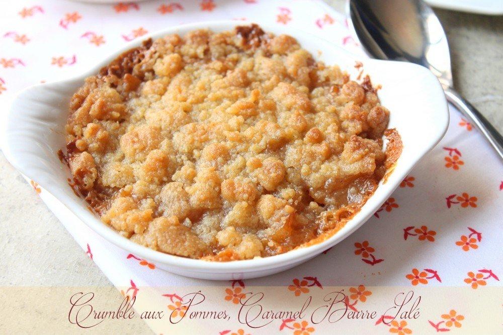 crumble aux pommes caramel beurre sal recettes faciles recettes rapides de djouza. Black Bedroom Furniture Sets. Home Design Ideas