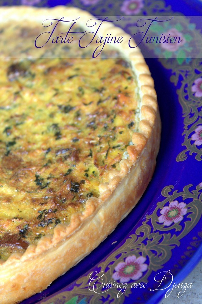 Tarte salée tajine tunisien au fromage