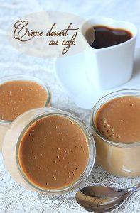Crème dessert au café façon danette