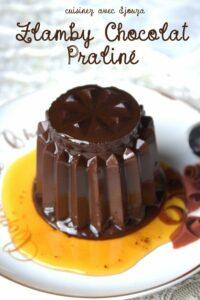 Flan au chocolat praliné facon flamby, dessert sans oeuf