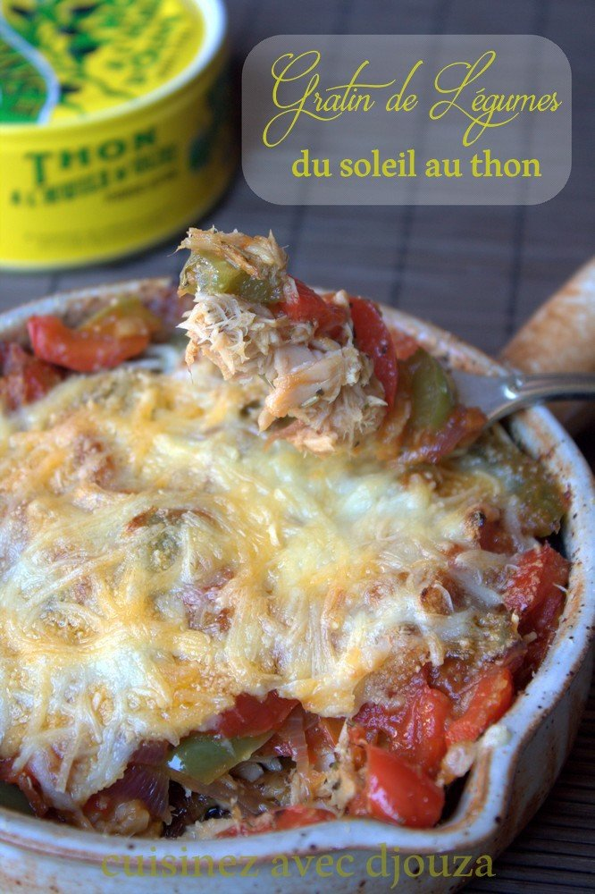 Gratin de légumes du soleil au thon