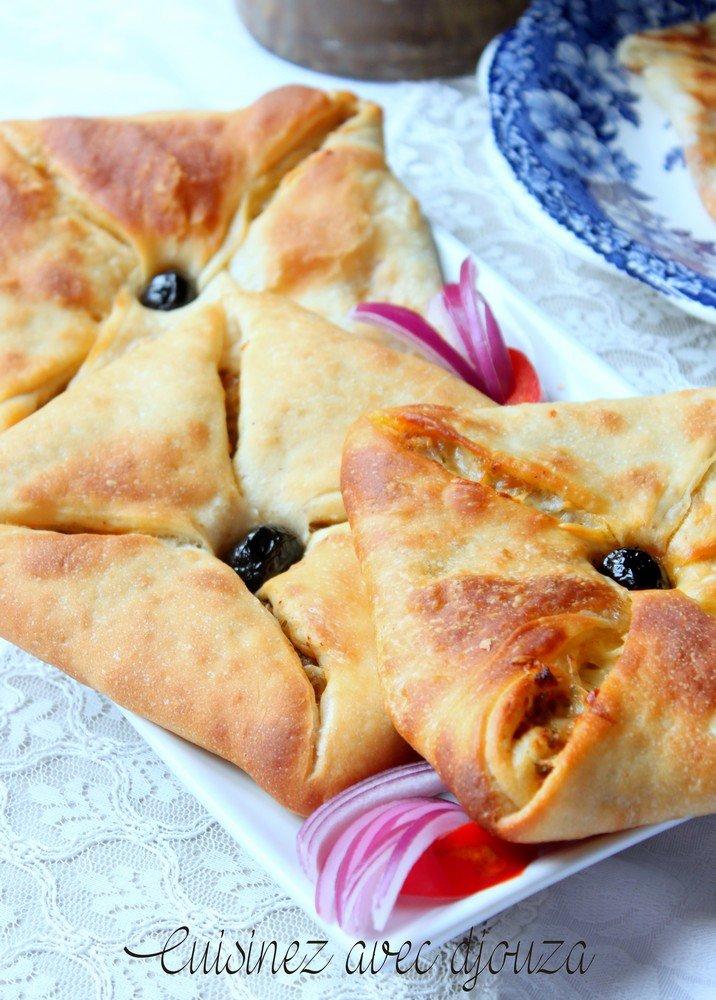 Msemen recette au babeurre et farcie cuisson au four