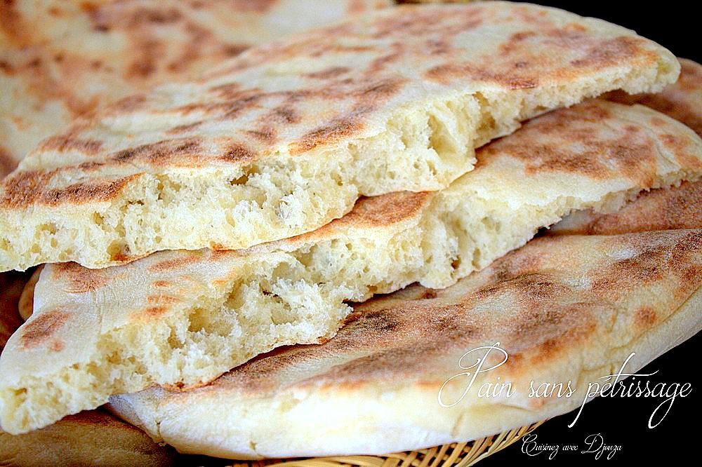 Pain maison sans p trissage matloua recettes faciles recettes rapides de djouza - Recette facile a faire sans four ...