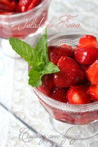Salade de fraise sucre vergeoise citron