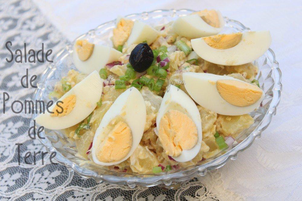 salade de pommes de terre oeufs durs recettes faciles recettes rapides de djouza. Black Bedroom Furniture Sets. Home Design Ideas