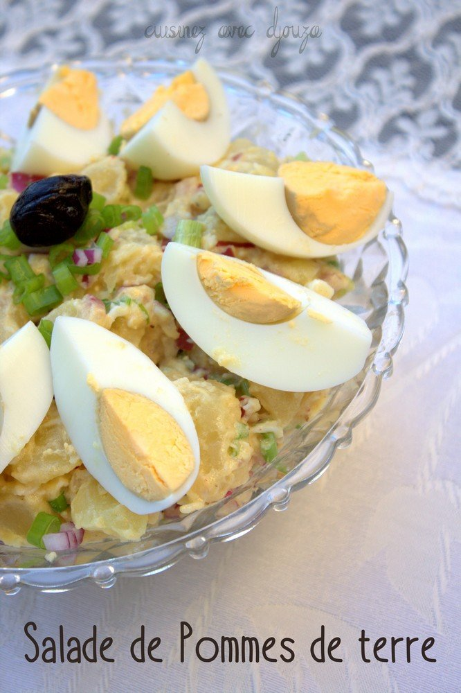 Salade de pomme de terre oeuf dur