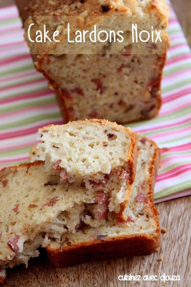 Recette cake salé lardons noix
