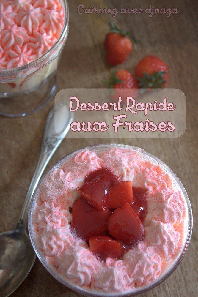 dessert rapide aux fraises chantilly mascarpone recettes faciles recettes rapides de djouza