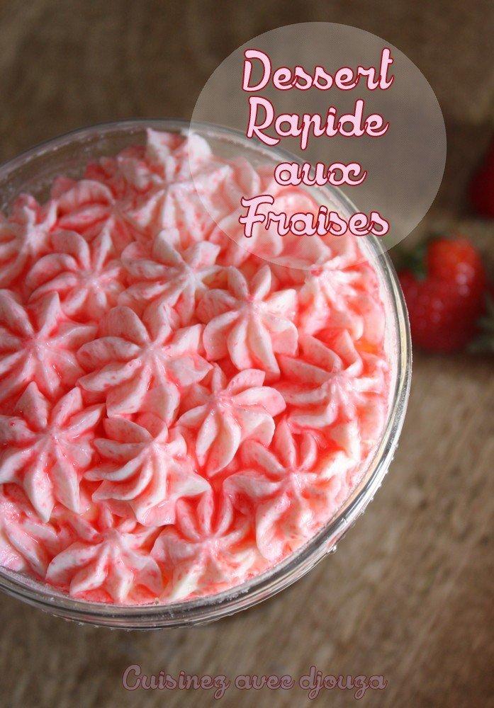Dessert rapide aux fraises chantilly mascarpone