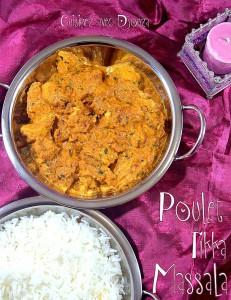 Poulet tikka massala recette indienne