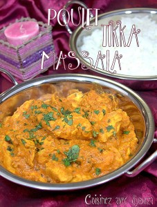 presentation tikka massala sauce au yaourt indienne