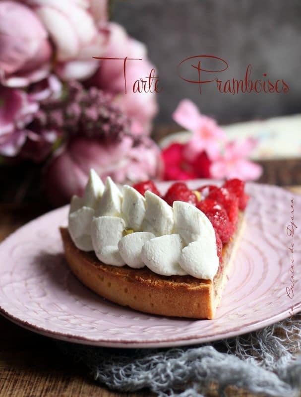 recette tarte crème amande et framboise