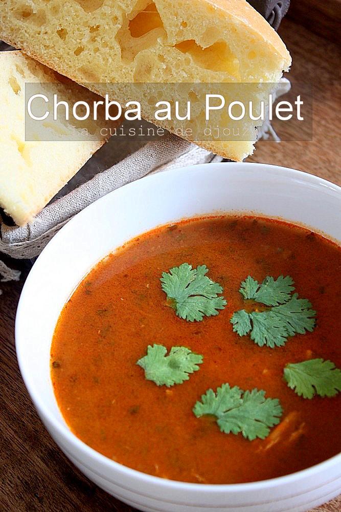 Chorba facile au poulet recettes faciles recettes rapides de djouza - Cuisine algerienne facile ...