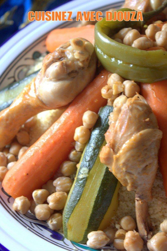 Couscous poulet facile et legumes frais