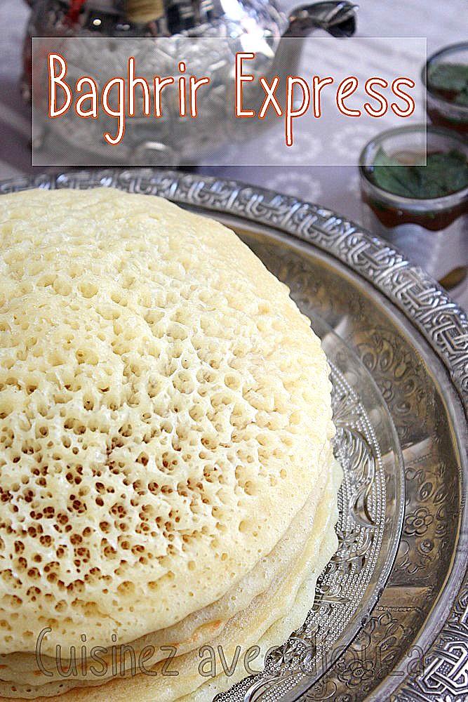 Baghrir recette express au blender