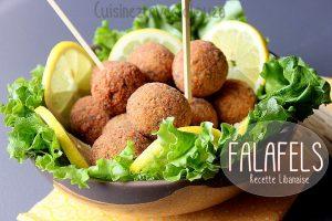 Falafel recette libanaise aux pois chiches