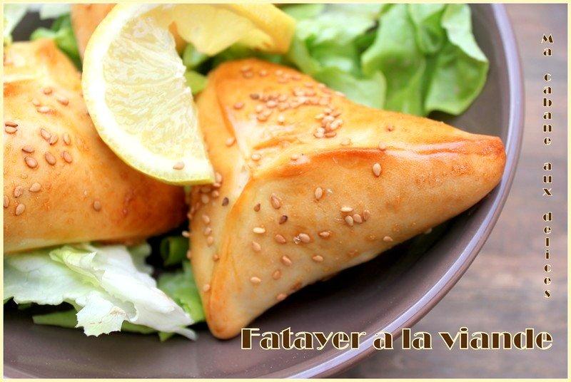 Fatayer a la viande hachée et légumes, recette ramadan