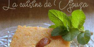 Kalb el louz fondante au yaourt ou lben