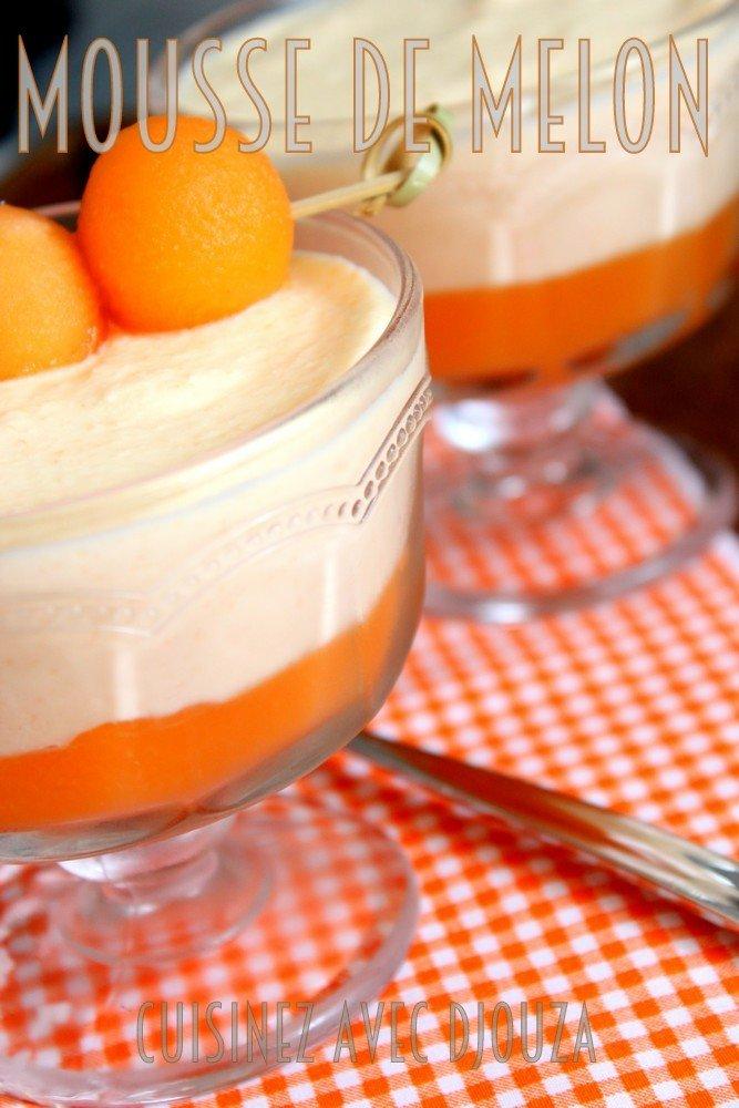 Mousse de melon dessert facile très frais