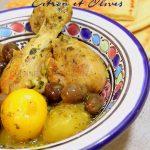Tajine de poulet citron olives