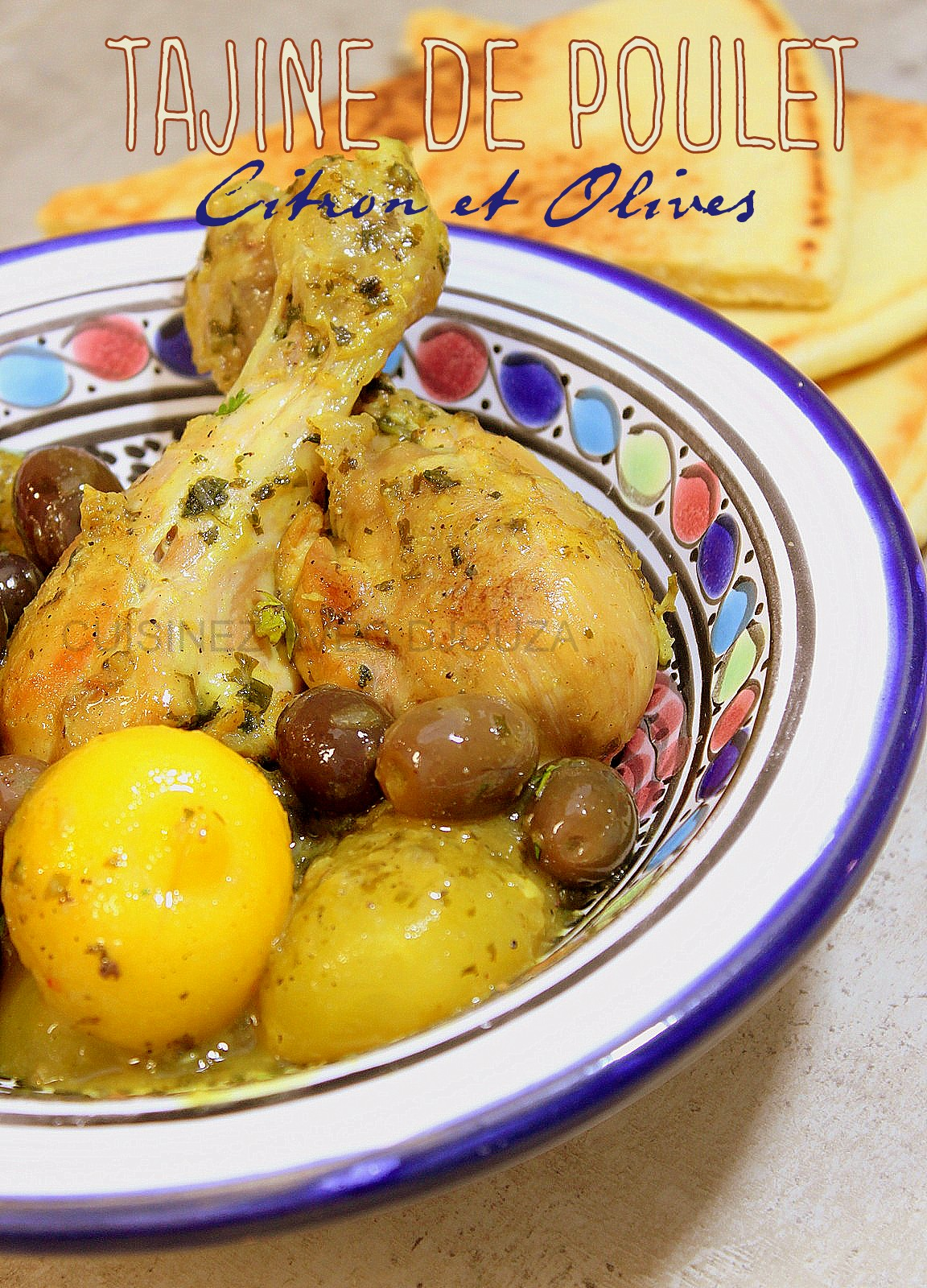 tajine de poulet au citron confit recettes faciles recettes rapides de djouza. Black Bedroom Furniture Sets. Home Design Ideas