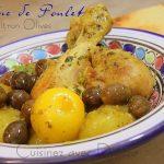 Tajine de poulet et olives aux citrons confits