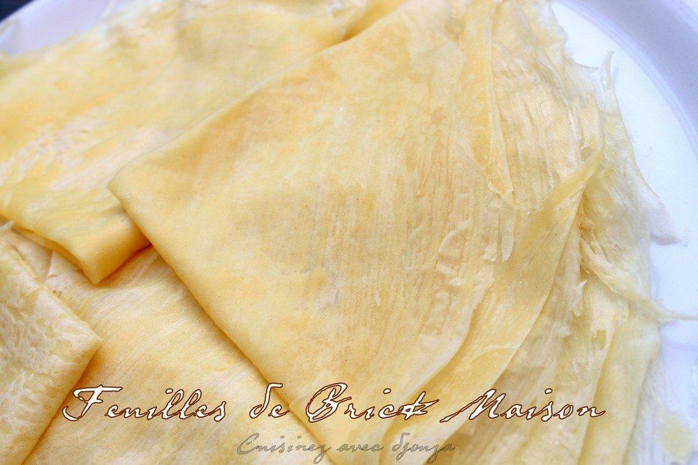 feuilles de brik maison facile et inratable a la poele