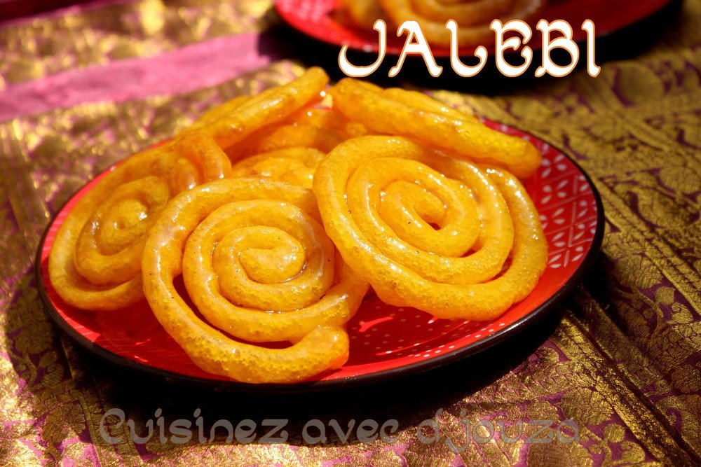 Jalebi recette traditionnelle a la levure boulangère