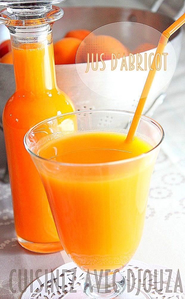 Recette jus ou nectar d d'abricot