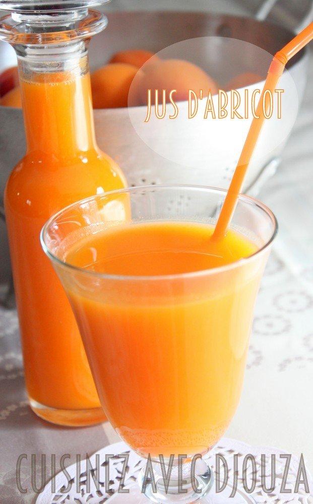 Recette de jus ou de nectar d'abricots du jardin