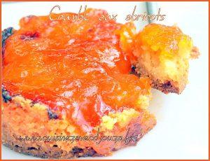 Crumble inversé aux abricots