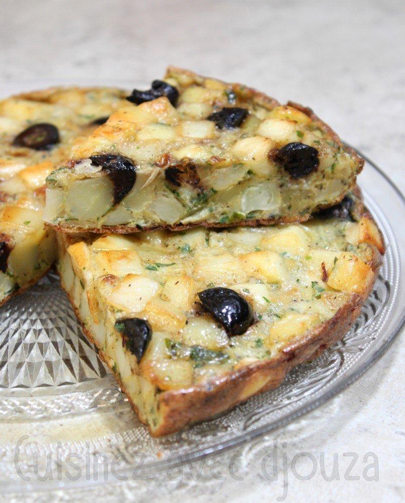 gateau de pommes de terre et olives