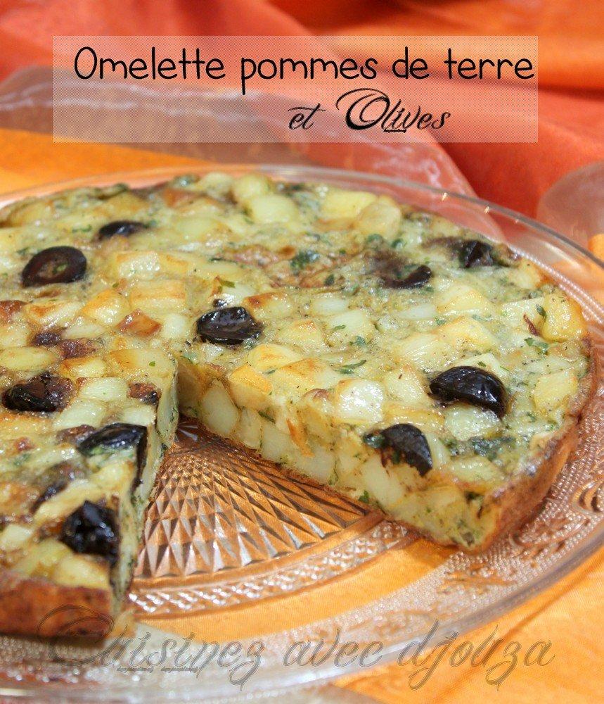 Galette de pommes de terre aux olives facon tortilla