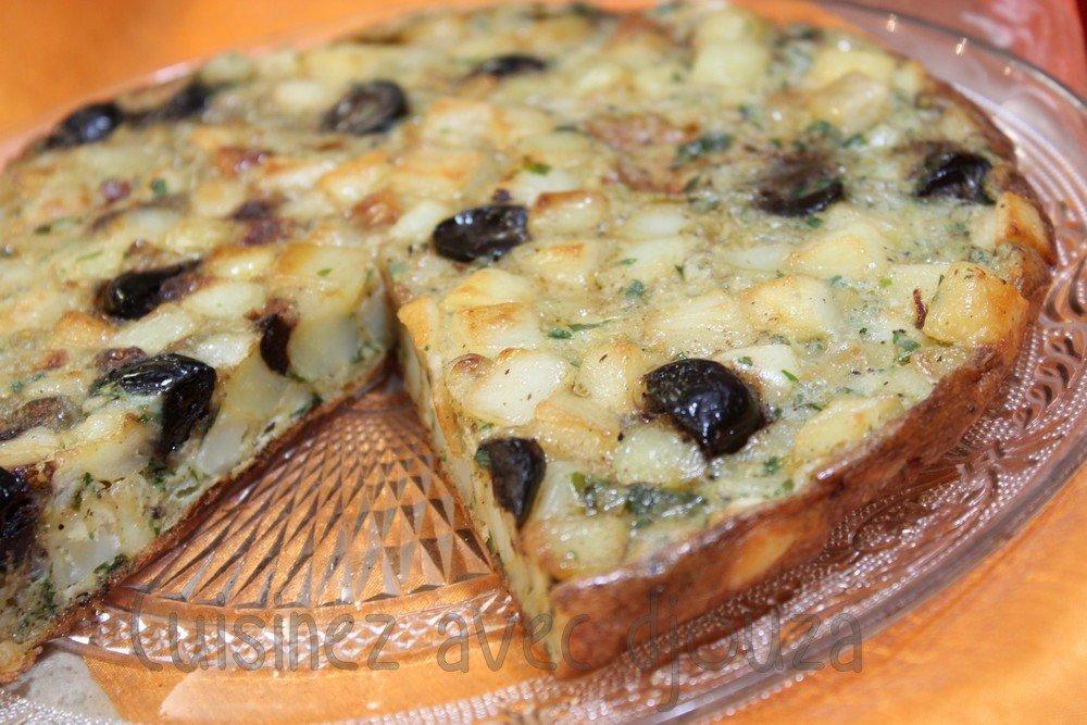 Omelette ou galette de pomme de terre