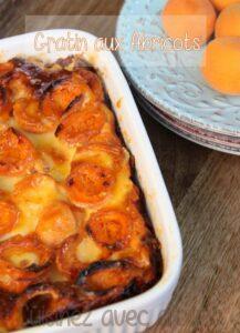 Gratin express aux abricots recette facile