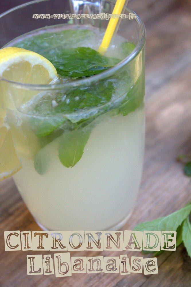Limonade libanaise citron menthe