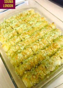 Baklawa rolls, baqlava roulée pate filo