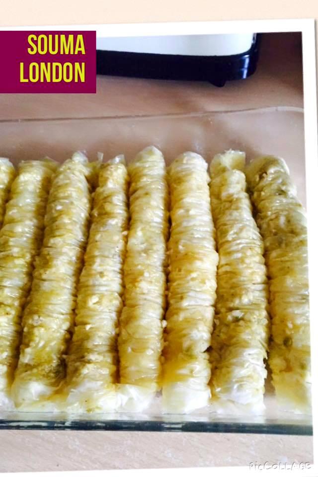 Baklava rolls, baklawa turque pate filo