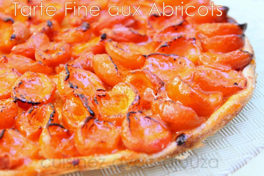 tarte fine aux abricots frais et confiture recettes. Black Bedroom Furniture Sets. Home Design Ideas