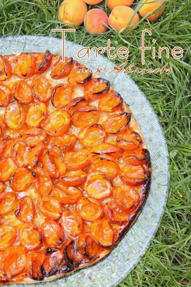Tarte fine express aux abricots et confiture d'abricots