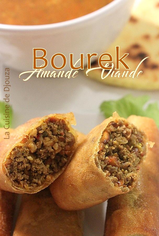 Bourek à la viande hachée et amandes hachées