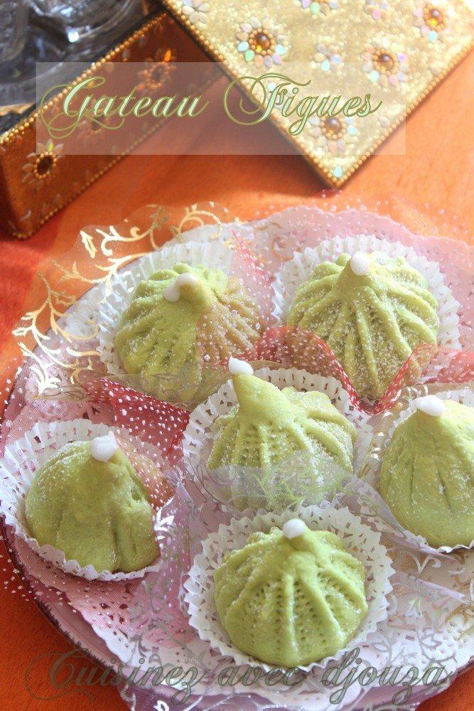 Gateau algérien en forme de figues et à la pâte de figue