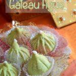 Gateau algérien économique a la figue et forme de figue