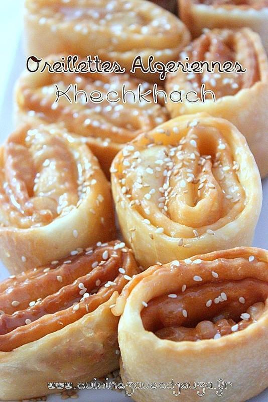 Oreillette algerienne khechkhach recettes faciles recettes rapides de djouza - Recette cuisine kabyle facile ...