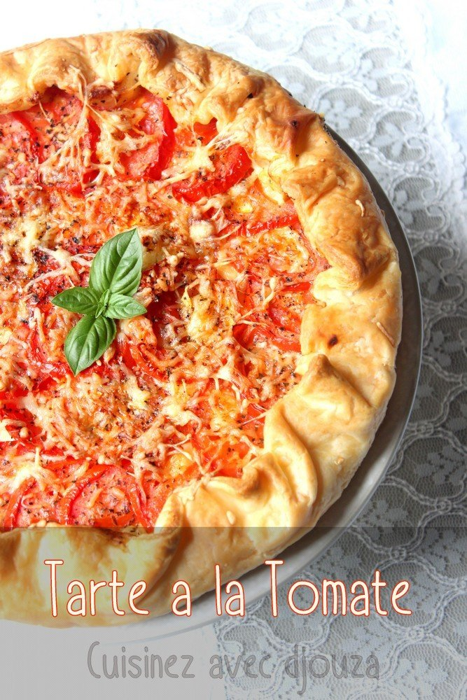 Tarte a la tomate moutarde et fromage